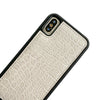RFID Crossbody Wallet Phone Case in Gray Croc Print