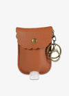 Hand Sanitizer Pocket Keychain in Brown