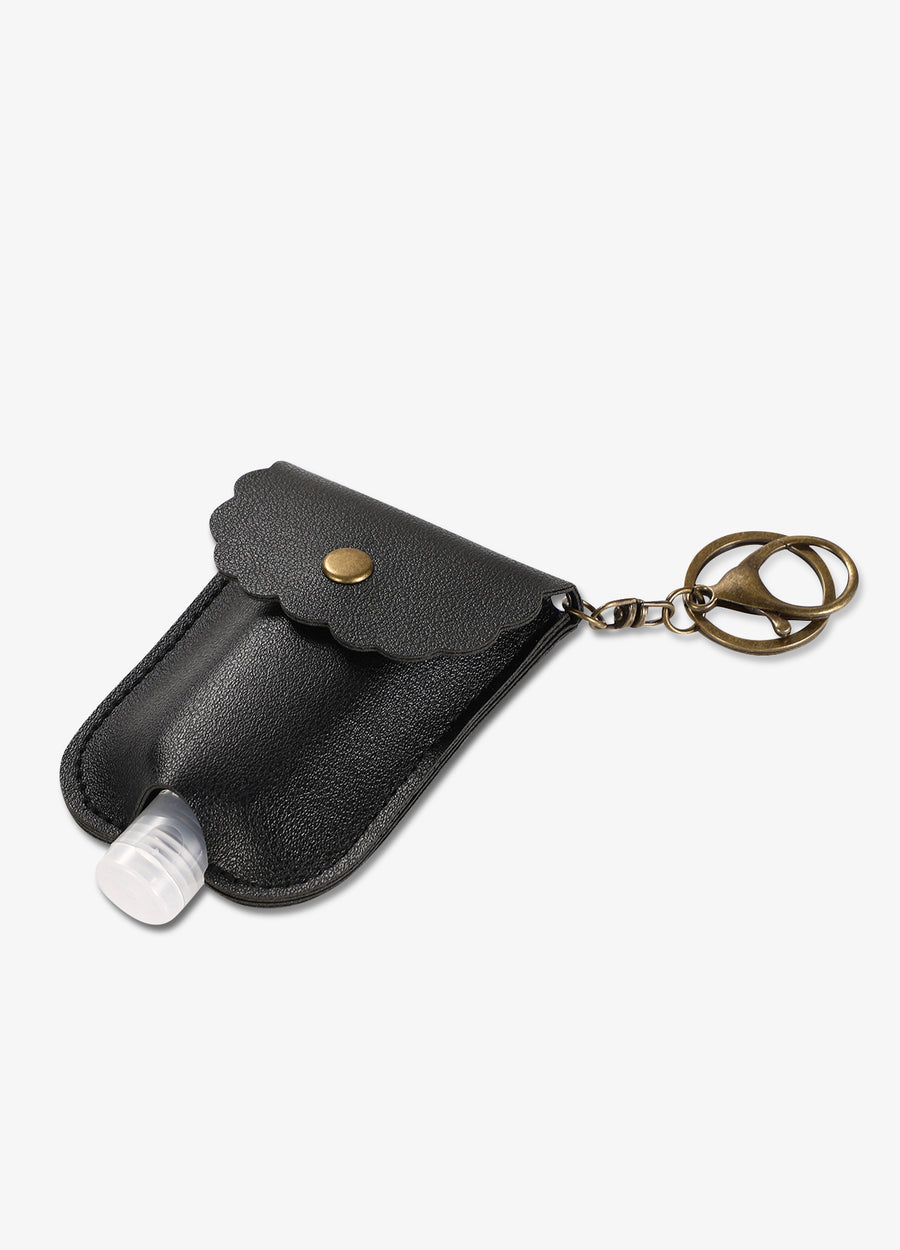 Hand Sanitizer Pocket Keychain in Black