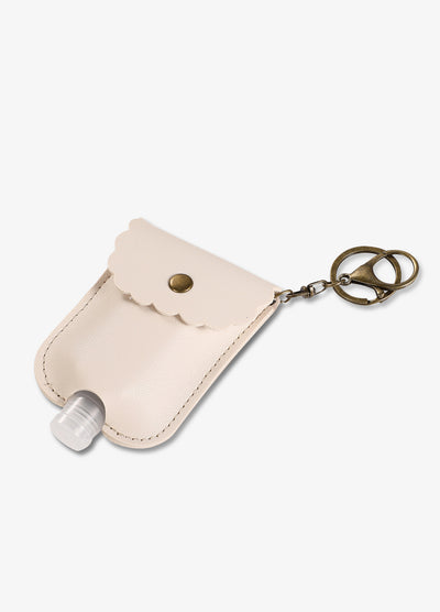 Hand Sanitizer Pocket Keychain in Cream