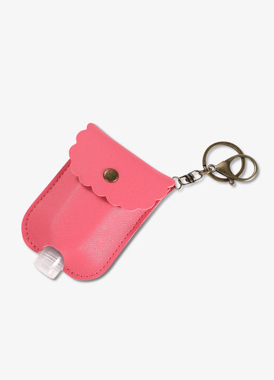 Hand Sanitizer Pocket Keychain in Pink