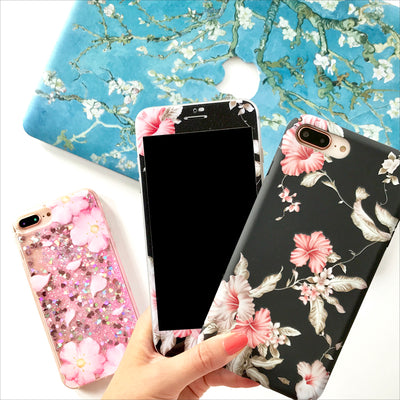 Phone Case Set - Black Hibiscus