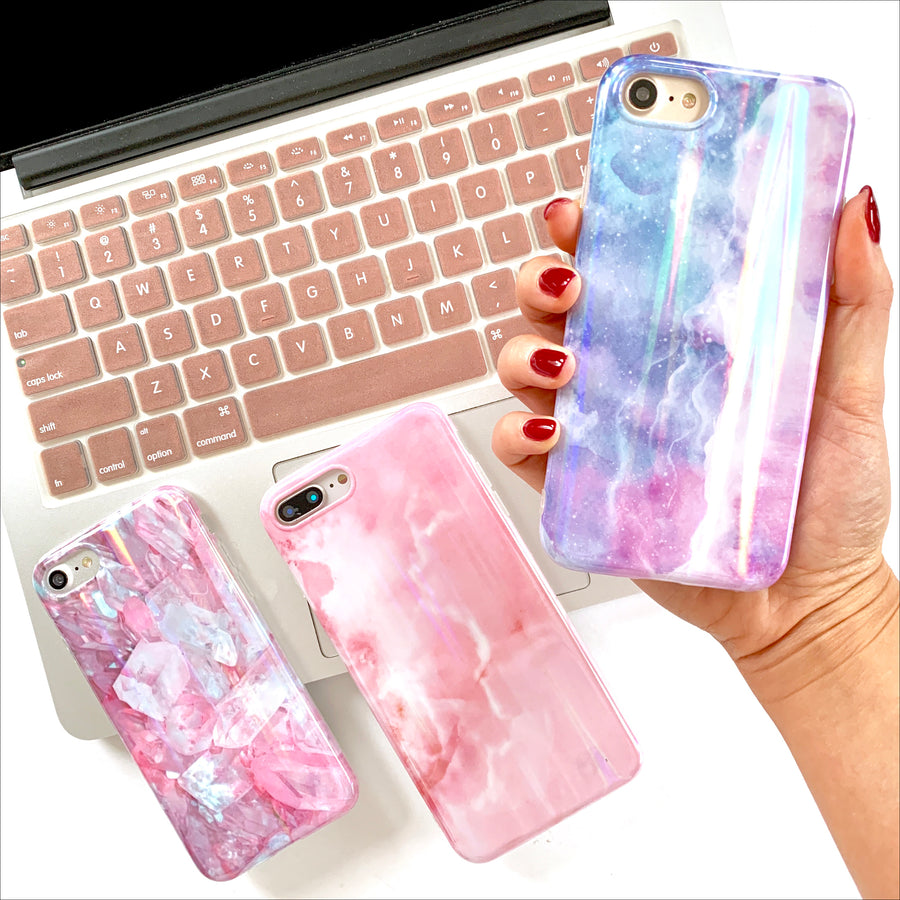 Cotton Candy Laser Phone Case