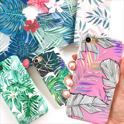 Holo Pink Palms Phone Case