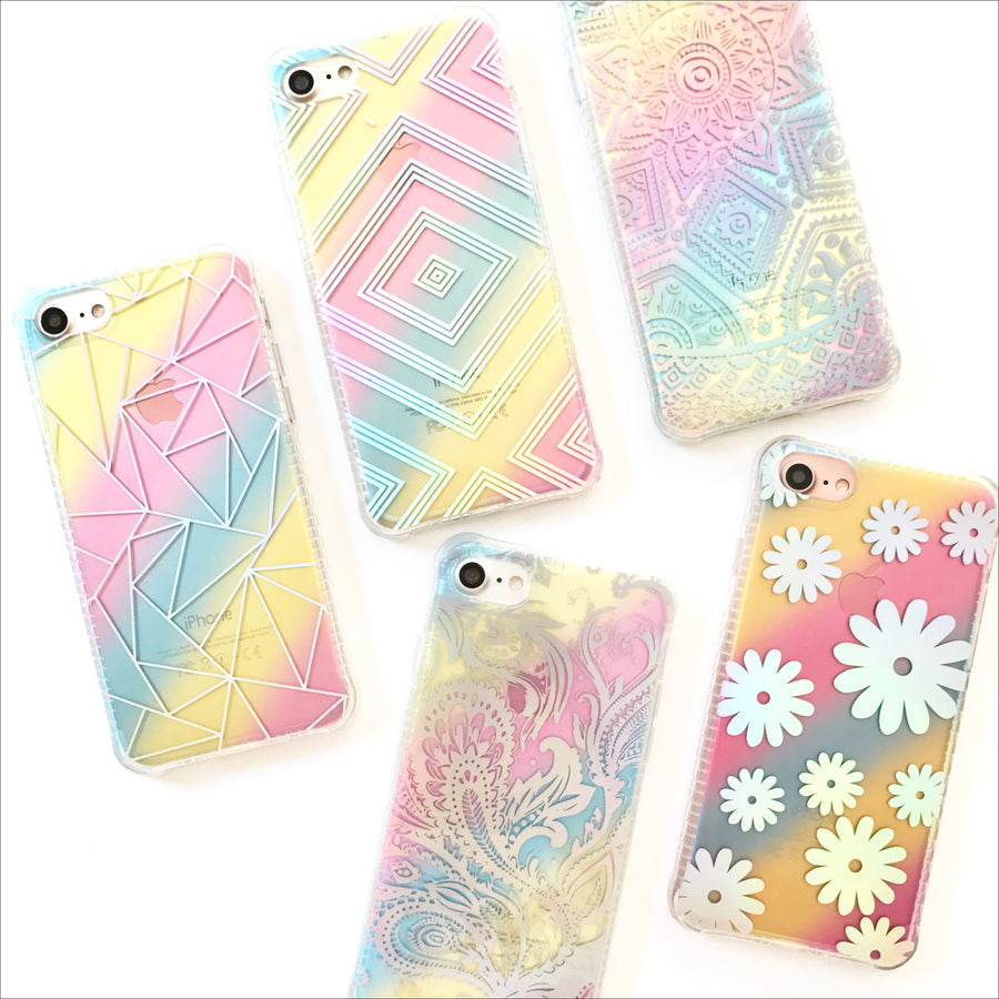 Holo Rainbow Daisies Phone Case