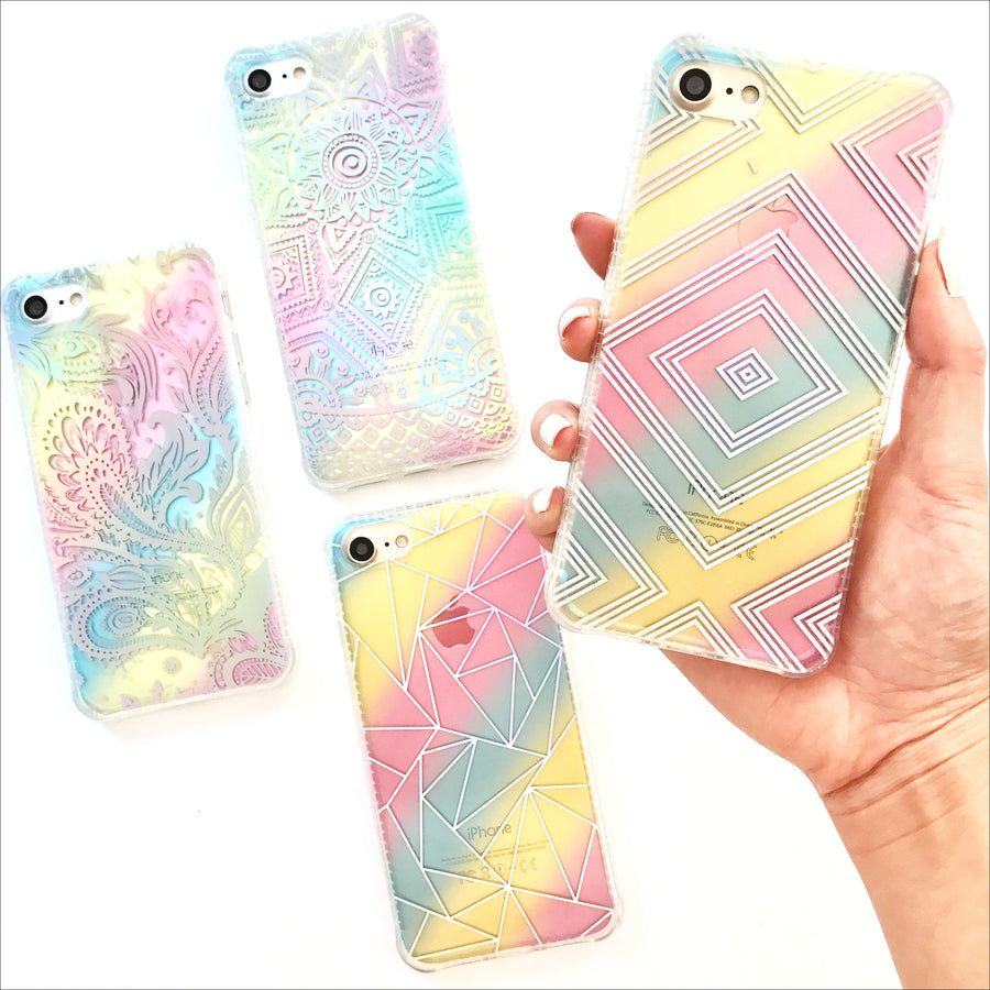Holo Rainbow Diamond Phone Case