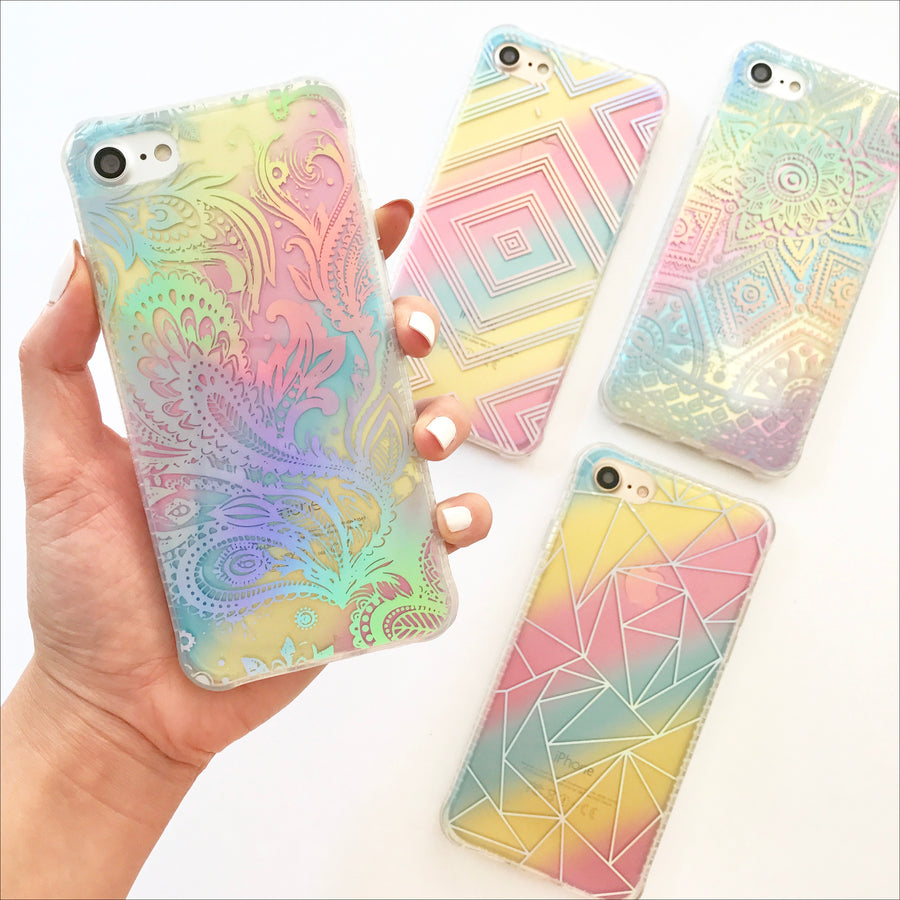 Holo Rainbow Paisley Phone Case