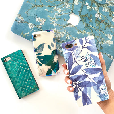 Teal Tile Box Phone Case