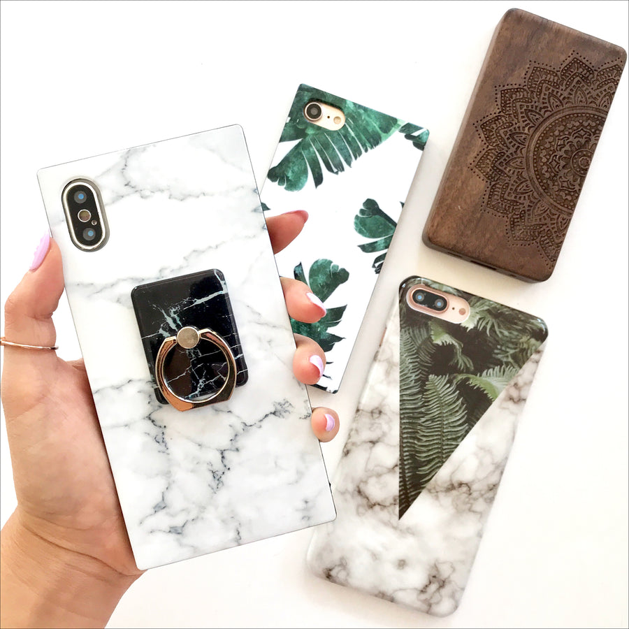 White Marble Box Phone Case