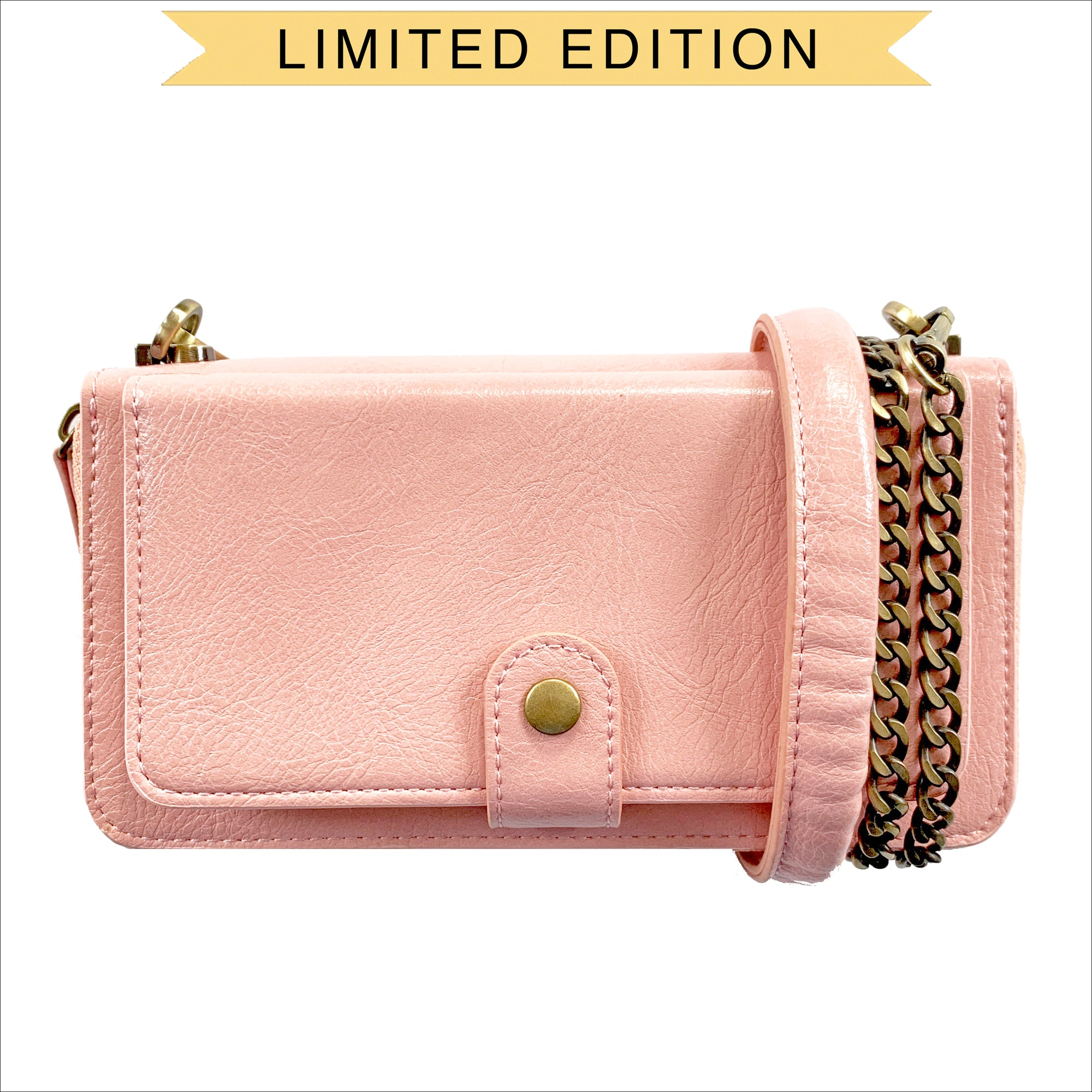 52f2fb4d06 Everyday Crossbody Wallet Phone Case in Blush - mahalocases