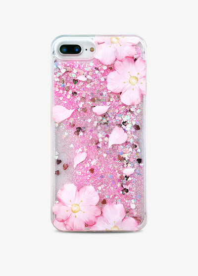 Cherry Blossom Glitter Phone Case