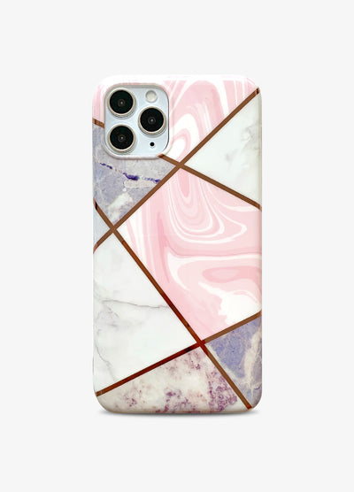 Pink Stone Metallic Geo Phone Case