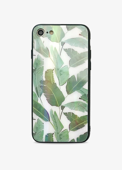 Palms Palms Tempered Glass Phone Case