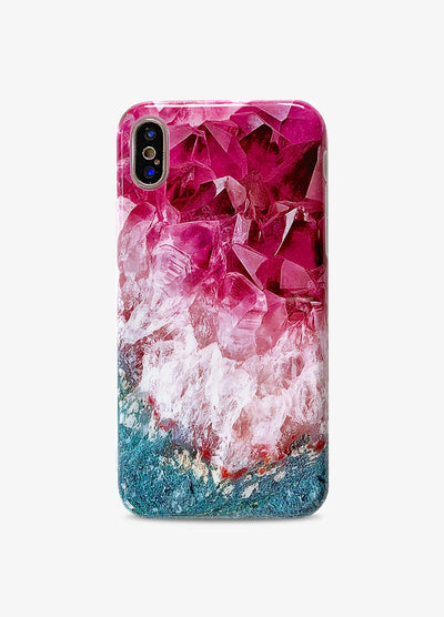 Violet Crystal Amethyst Phone Case
