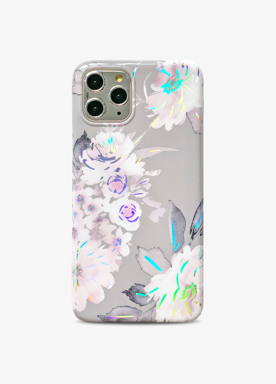 Holo Floral in Soft Pink Phone Case