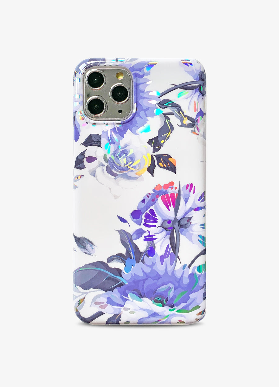 Holo Floral in Blue Phone Case