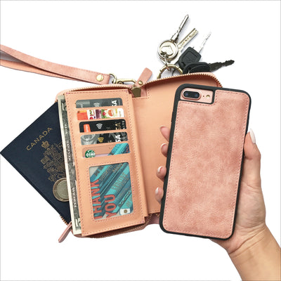 Ultimate Wristlet Phone Case in Dusty Pink