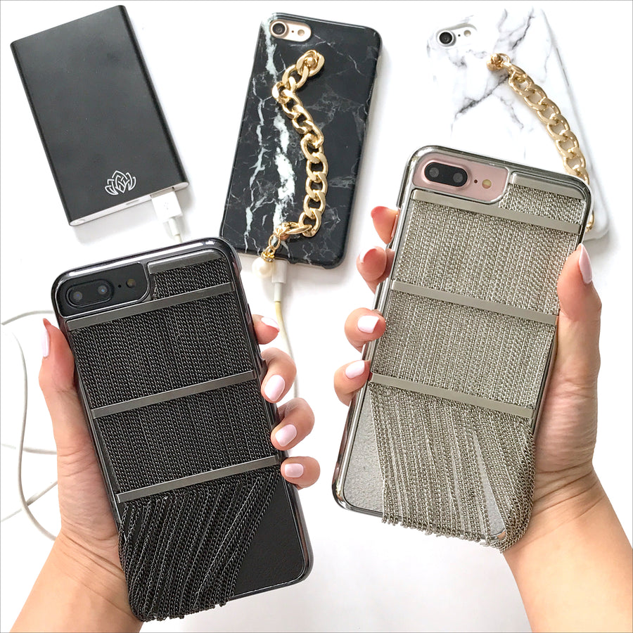 Gunmetal Links Phone Case
