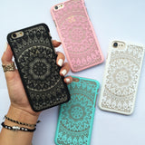 White Love Mandala Phone Case
