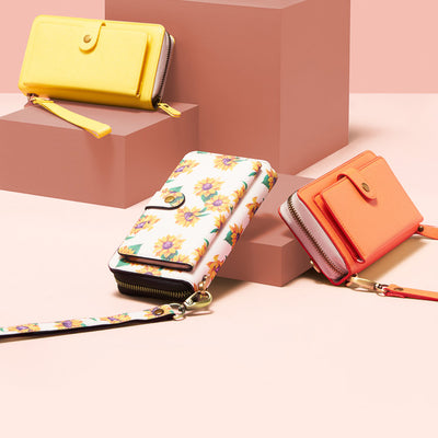The Luxe Ultimate Wristlet Phone Case in Sunshine