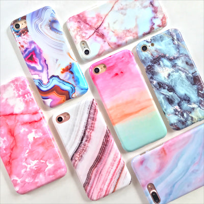 Pink Cracked Marble Phone Case