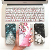 Black & White Duo Marble Phone Case