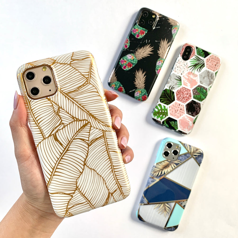 Metallic Palm Leaves Phone Case