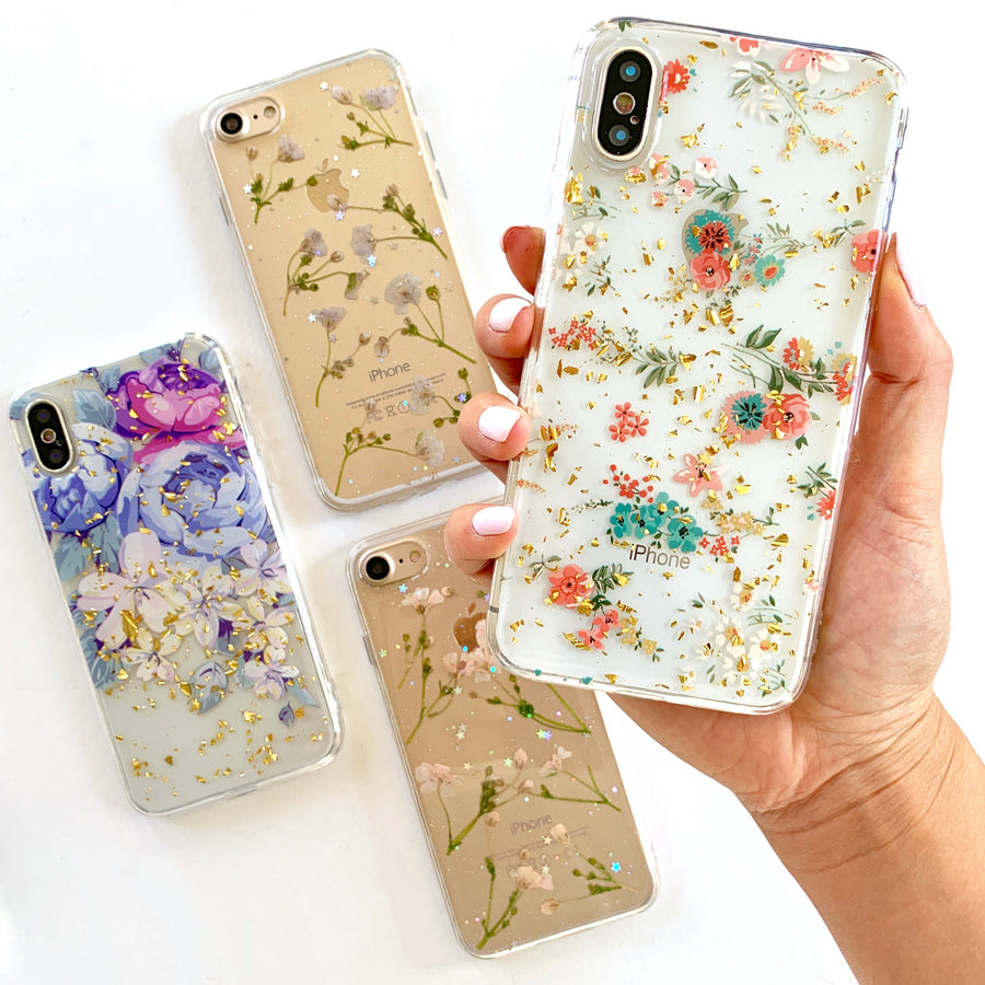 Mini Floral Gold Flakes Phone Case