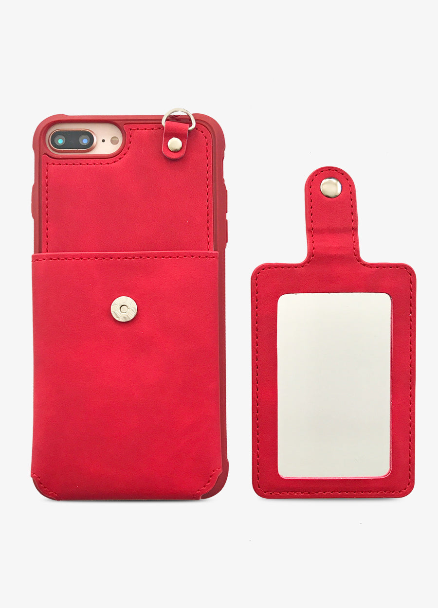 Red Mirror Card Phone Case