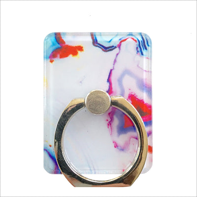 Multicolor Quartz Ring Holder Stand