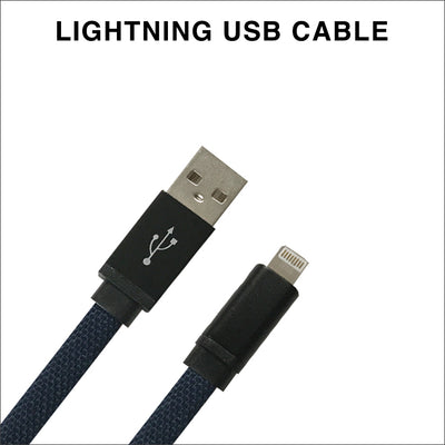 Navy Flat Charging Cable