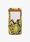Crossbody Card Case in Neon Snakeskin