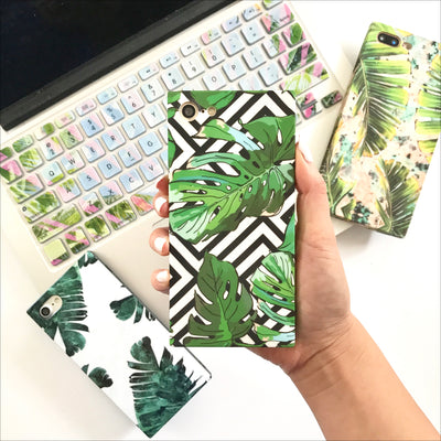Patterned Palms Box Phone Case