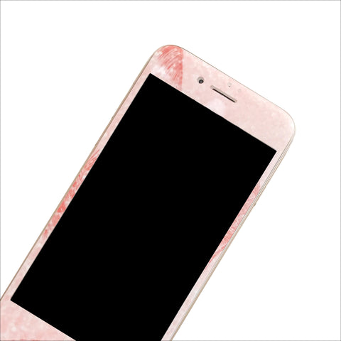 Glass Screen Protector - Pink Palm Tree