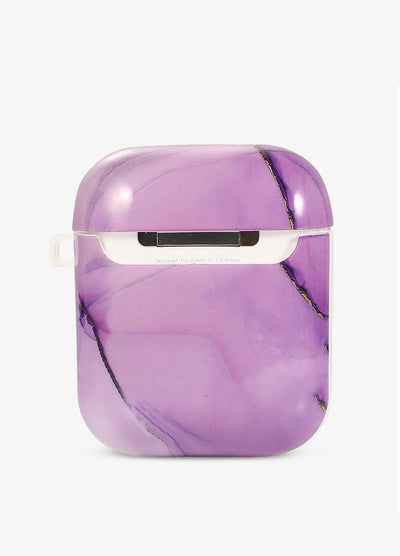 Pastel Purple Marble AirPod Case