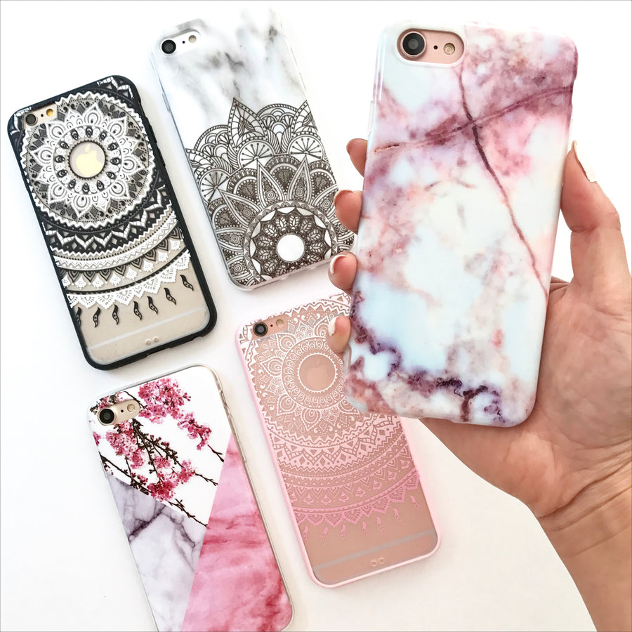 Peaches & Cream Marble Phone Case