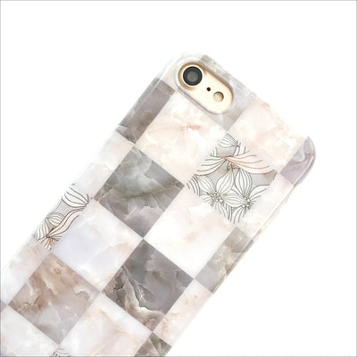 Seashell Grid Marble Phone Case