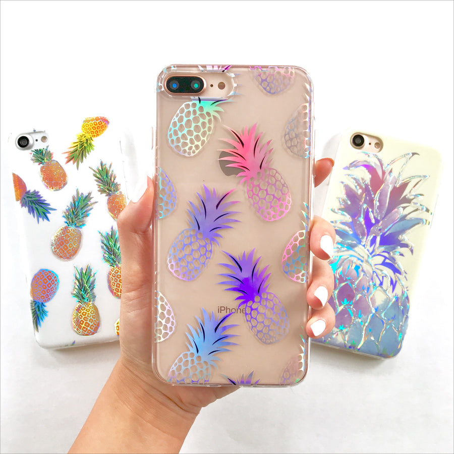 Holo Pineapple Glow Phone Case