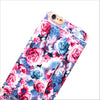 Floral Wallet Phone Case in Blue Pink