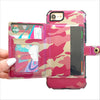 Camo Wallet Phone Case in Pink