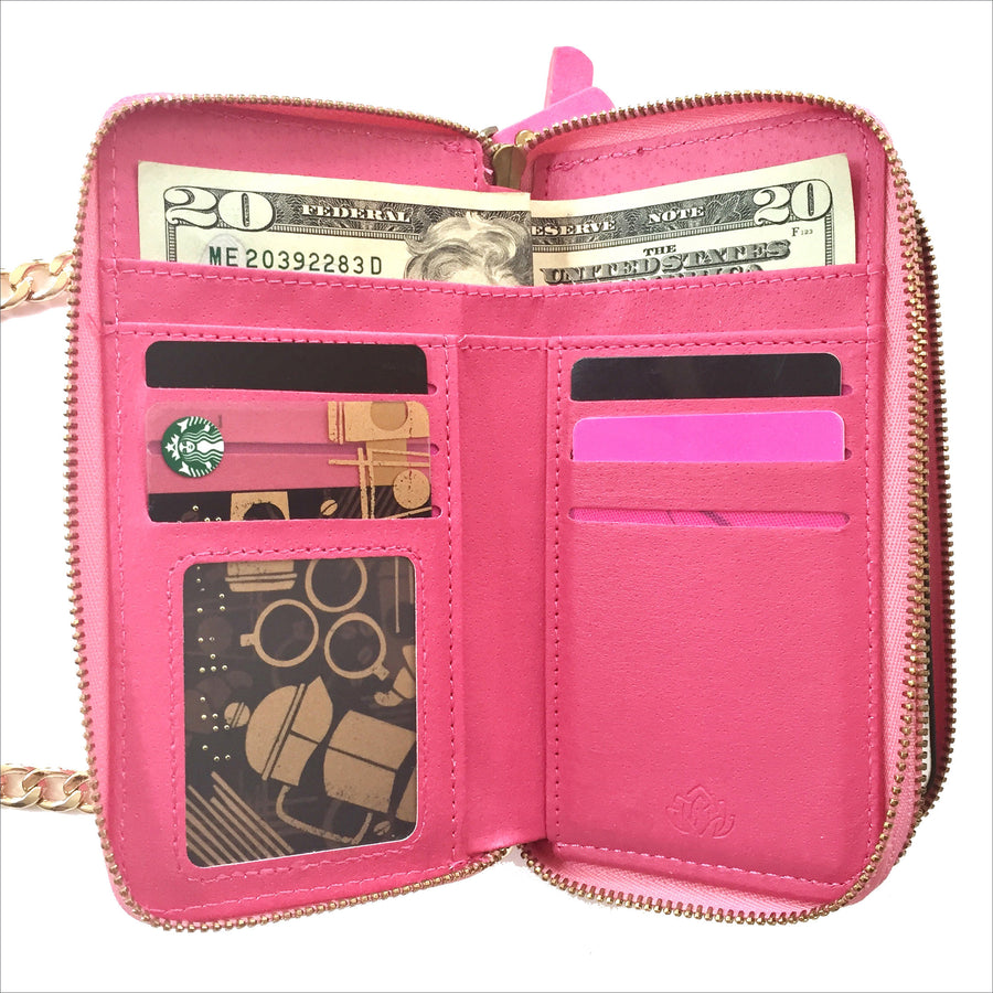 Crossbody Wallet Case in Pink
