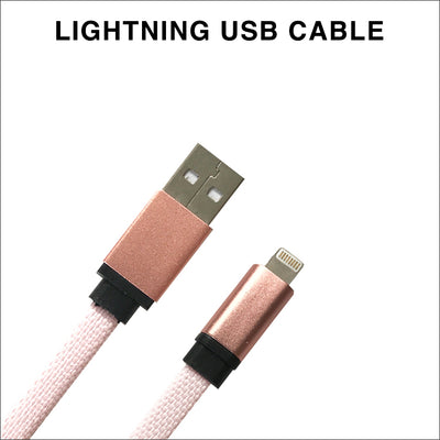 Pink Flat Charging Cable