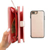 Pink Metallic Wallet Phone Case