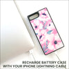 Pink Poppies Luxe Battery Charging Phone Case