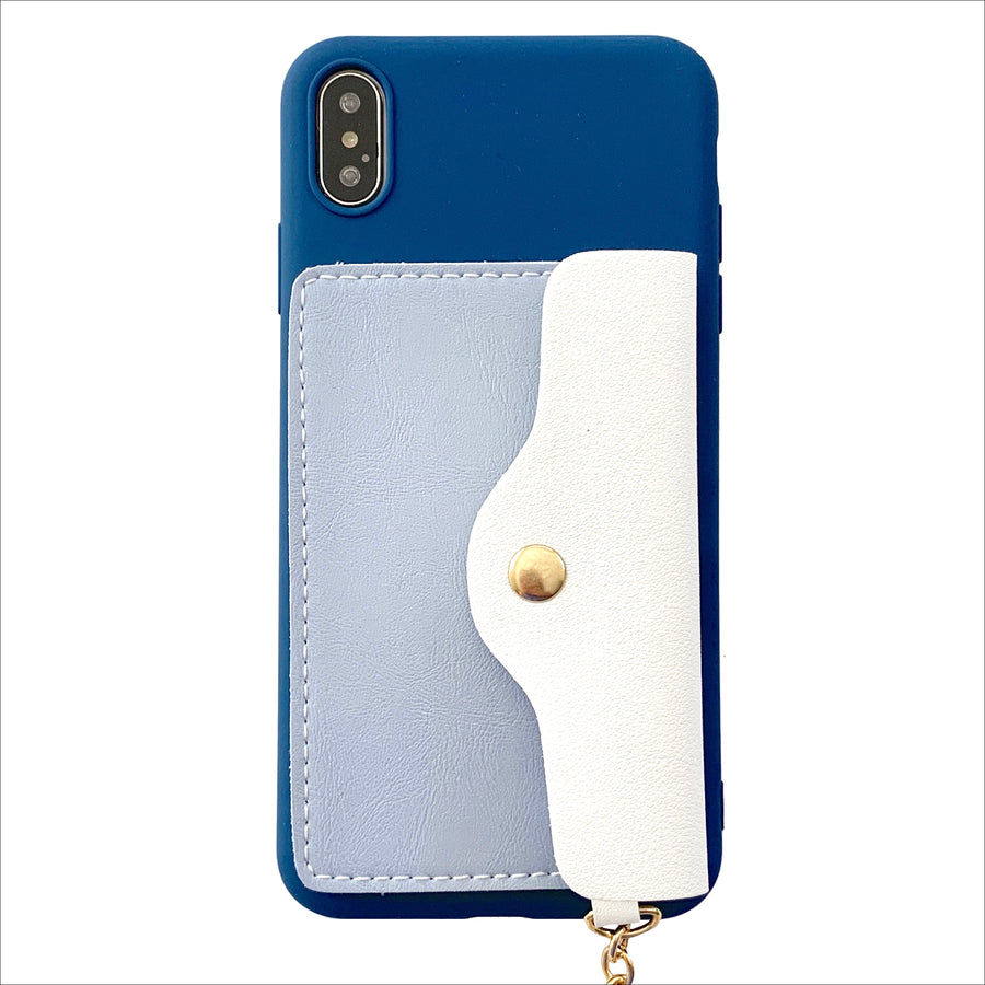 Pocket Wallet Phone Case in Sky Blue