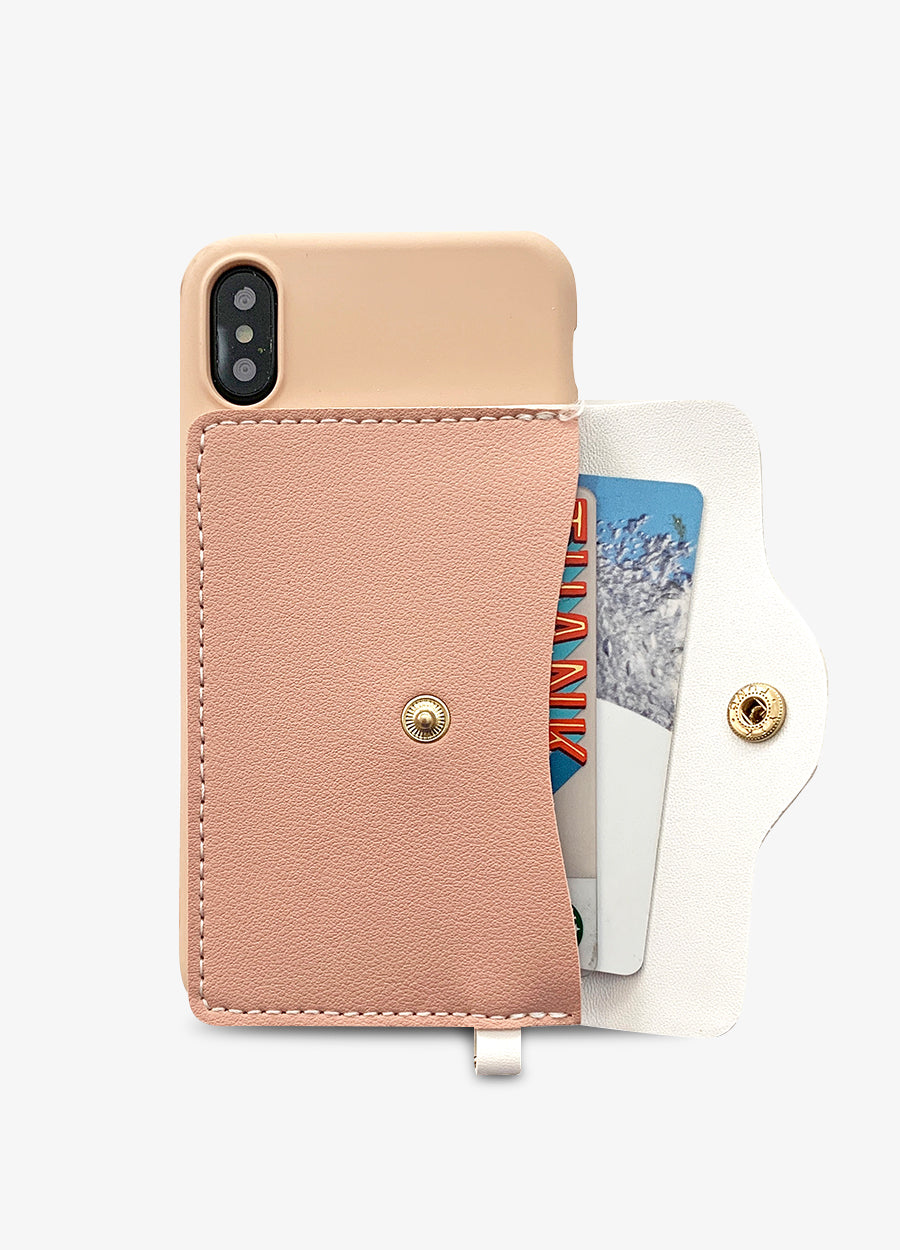 Pocket Wallet Phone Case in Dusty Rose