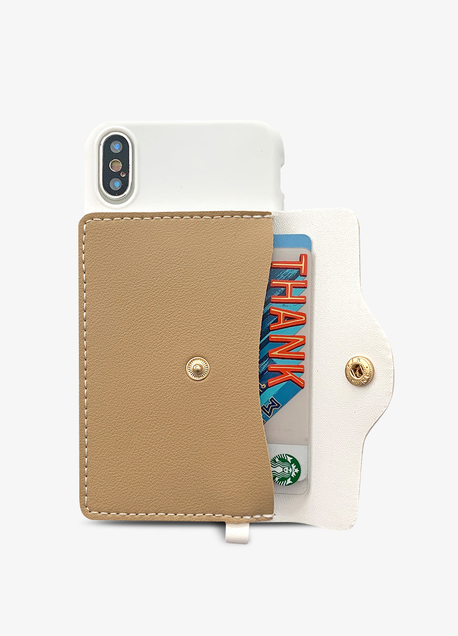 Pocket Wallet Phone Case in Coffee