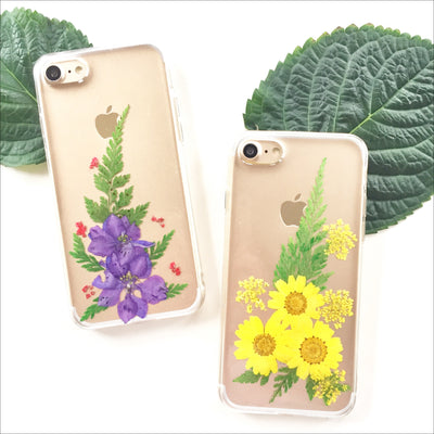 Pressed Purple Floral Fern Phone Case