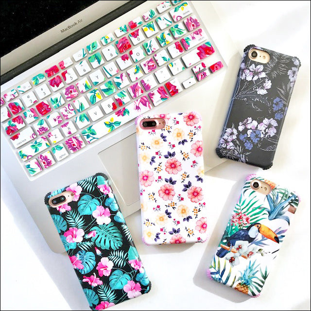 Classic White Floral Protector Phone Case