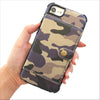 Camo Wallet Phone Case in Purple